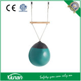 Kids Inflatable Buoy Ball Swing with Wooden Trapeze Bar