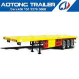 40feet Tri-Axle Flatbed High Bed Container Semi Trailer with Twistlock