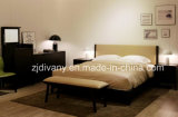 Modern Furniture Wooden Leather Bed (A-B37)