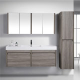 Floating Wood Bathroom Vanity with Mirror Cabinet and Side Cabinets