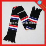 Custom Knitted 100% Acrylic Football Scarf
