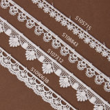 Scalloped Edge Ivory Embroidery Chemical Guipure Lace Ribbon Trim Wholesale