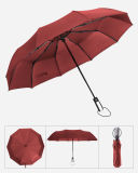 Cheapest Red Automatic Open Promotion 3 Fold Umbrella for Lady