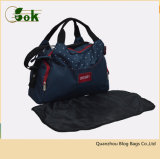 Cute Designer Nappy Travel Handbags Blue Women Mummy Diaper Hand Tote Bags for Baby
