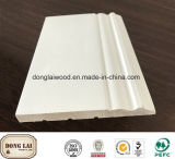 Building Material High Quality China Factory Supply Cheap Baseboard White Primed MDF Skirting Mouldings for Home Decoration