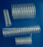 Good Transmittance Clear Spiral/Helix/Helical Quartz Tube