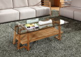 Solid Bamboo with Glass Surface Tea Table Coffee Table