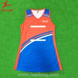 Healong ODM Digital Textile Printing Plain A Line Netball Dress
