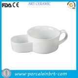 Nice Style White Ceramic Soup and Cracker Bowl