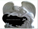 Marble Monuments with Angel Engraving