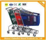 Factory Price Plastic and Metal Shopping Cart Trolley