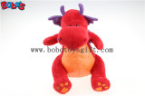 Hot Sale Soft Plush Red Dinosaur Toy with Purple Shiny Wings Bos1201