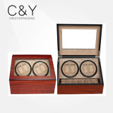 4+6 Cherry Wood Matte Lacquer Automatic Watch Winder
