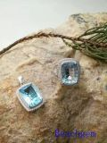 Jewelry Ring/Pendant Set-Natural Topaz in Sterling Silver (S3331)