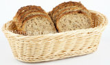 Customized Food Safe Oval Shape Willow Bread Basket for Kitchen-Table