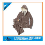 Custom Fashion Women Clothes Soft Velour Hoody Track Suit