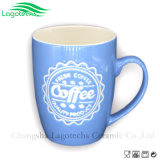 Embossed Ceramic Mug with Creative Design