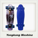 Blue Color with Light Pattern Plastic Skateboard with Good Quality
