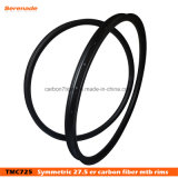 "Lightweight Clincher Rim Without Hook 30mm Carbon BMX Bike Rims 27.5 Carbon BMX Wheels 27.5"" MTB Carbon Rims"