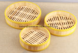 Silicone Circle Bamboo Steamer for Dim Sum Food