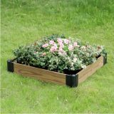 Wood Grain WPC DIY Flower Planter WPC Pot Garden Decoration