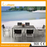 Powder Coated Aluminum Frame Modern Outdoor Furniture Leisure Dining Table and 6 Chairs Garden Furniture