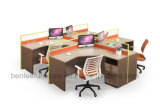 New Design Modern Modular Open Wooden Office Workstation for 4 Seats (BL-25B)
