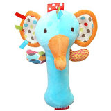 Cute Cartoon Animal Plush Rattles Hand Bells Bb Sound Educational Funny Toys Gift for Newborn