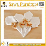 Wholesale Hot Sale Elegant Fancy Folding Wedding Decoration Table Napkin with Ring