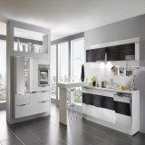 Matt Lacquer Tall Cabinet Home Modern Kitchen with White Quartz Stone (ACS2-L331)