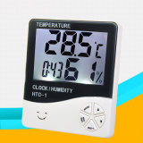 HTC-1 Digital Room LCD Thermometer Humidity Meter Hygrometer Weather Station Indoor Alarm Clock