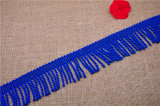 High Quality Sapphire Blue Rope Fringe for Curtain/Garment