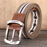 Fashion Cheap Wholesale Metal Alloy Reversible Pin Buckle Canvas Belt for Men
