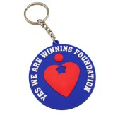 Custom Personalized Heart Soft PVC Keyrings Fashion Decoration Accessories Blank Plastic Keyholder Keyfob Promotional Gifts for Love Activities
