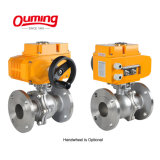 4, 6, 8 Inch 1000 Wog Psi Fully Welded Stainless Steel Motorized Electric Floating 3PC Ball Valve