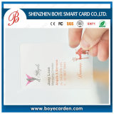 Cr80 Standard Size PVC Membership Card/Gift Card/Plastic Transparent Business Card