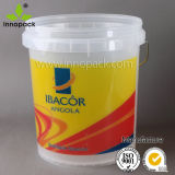 20L Printed Clear Plastic Paint Bucket with Lid and Handle