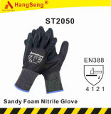 Double Dipped Sandy Foam Nitrile Safety Work Glove (ST2050HVY)