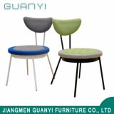 Metal Material Restaurant Modern Fabric Dining Chair with Metal Chair Leg