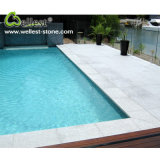 Natural G603 Grey Color Good Price Flamed Finished Granite Pool Coping Tiles with Straight Edge