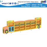 Bus Model Toys Cabinet Kindergarten Wooden Furniture for Wooden Kids Role Play Shelf (HC-3101)