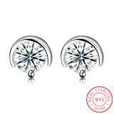 925 Stering Silver Fashion Ear Stud Popular Round Earring for Women