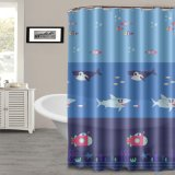 Waterproof Bathroom PEVA Shower Curtain with Heavy Duty Magnets