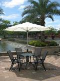 Iron Frame Outdoor Coffee Table Set Garden Cafe Dinner Chair Set Leisure Furniture