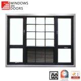 Latest Design Double Glass New Thermal Break Aluminium/Aluminum Casement/ Awning Tilt & Turn Alloy Profile Sliding Ptac Louver Window with Aama/Nfrc Certificate
