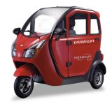 Electric Three Wheeler Battery Powered Closed Tricycle Bicycles