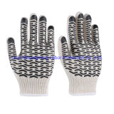 Natural White Cotton Rubber DOT Gloves