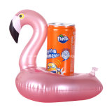Mini Inflatable Pink Flamingo Water Swimming Pool Drink Cup Stand Holder Float Toy Coasters for Water Beverage Beer Bottle