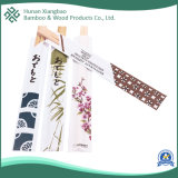 Wholesale Bare Bamboo Chopsticks with Paper Sleeves Bamboo Dinnerware