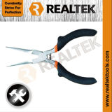 Nickel-Planted Mini Needle Nose Pliers with Raised Shoulder